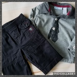 First Impressions 2pc Skull Fall/Winter Outfit 0-3